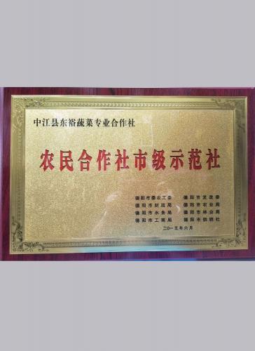 市级农民示范社2015.6(东裕)